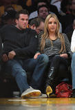Amanda Bynes and Doug Reinhardt at the Lakers' Game