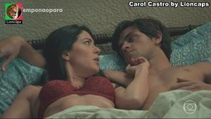 Carol Castro sensual na novela O Tempo não pára