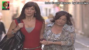Ines Castel Branco sensual nas novelas Nazare e Vila Faia