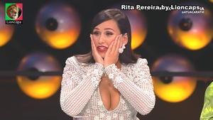Rita Pereira sensual no programa A tua cara não me é estranha
