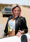 Ashley Massaro: Behind the Scenes of Rev Theory's 'Hell Yeah' Music Video (x9 Pics)